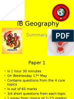 ib geography - exam structure