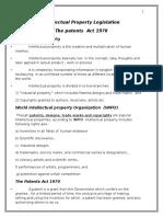 Intellectual Property Legislations Word