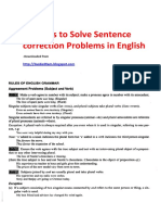 80 Rules to Solve Sentence Correction