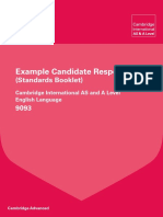 9093 English Language Example Candidate Responses Booklet 2015