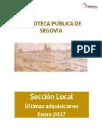 Novedades Sección Local Enero 2017