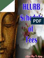 Hlurb Schedule of Fees