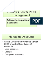 Administering Accounts and Services