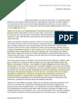 Qlik Sense vs Tableau [Highlighted]   Business Intelligence