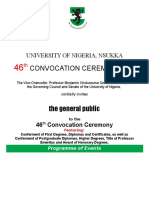 Programme of Events 46th Convocation