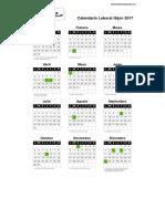 Calendario Gijon 2017