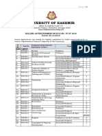 Notification Kashmir University Professor Associate Professor Posts