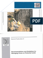 191. Jones Et Al. 2003 - Recommendations and Guidelines for Managing Caves on Protected Lands