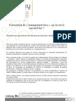 Dossier Les Conventions de Management Fees 1