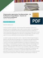 9782720012082 Grammaire Japonaise Fondamentale de La Theorie a La Pratique Lecons Et Exercices Pratiques
