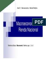 Macroeconomia e a Renda Nacional