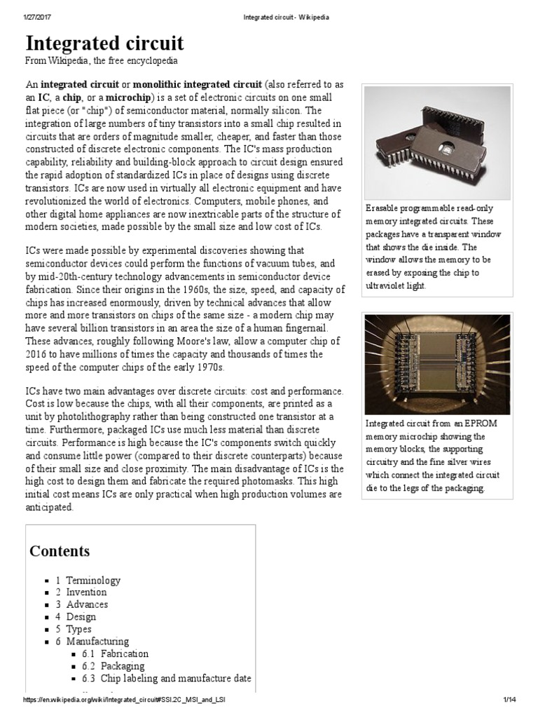 integrated circuit semiconductor device fabrication integrated rh scribd com Wikipedia Encyclopedia Search Wikipedia English Search