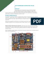Bagian Bagian Motherboard Komputer Jelas Dengan Gambar