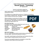 27.01.17 Tuckshop & Social Snack Update