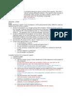 format final report