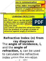 Lesson14 Refractive Index Investigation