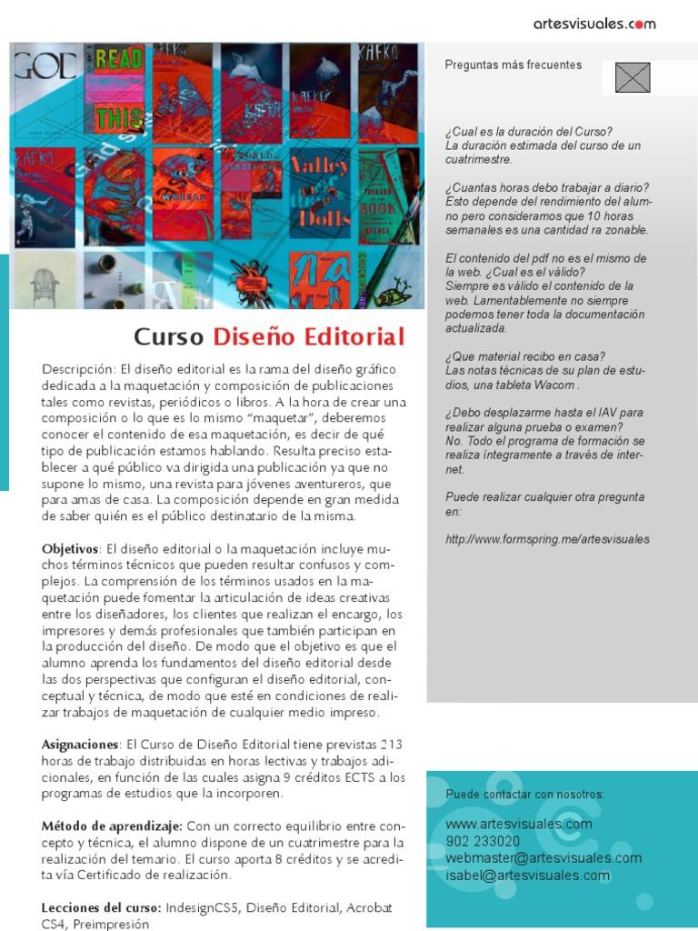 Curso de dise o editorial for Diseno editorial pdf