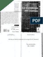 David Le Breton La Sociologia Del Cuerpo