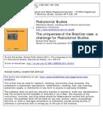 Brasil e o Desafio Aos Estudos Poscoloniais