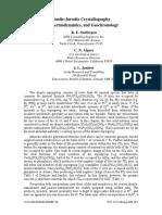 Alunite-Jarosite Crystallography,Thermodynamics, And Geochronology