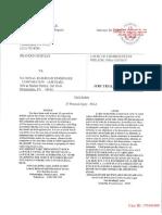 Lawsuit v. Amtrak