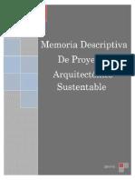 Memoria Descriptiva Casa Marisa Final