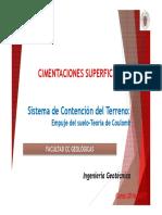 5c. Sistema de Contencion Del Terreno- Teoria Coulomb