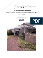 Evaluation of Reston Association's Purchase and Management of the Tetra Property, by Reston Recall, January 25, 2017