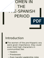 Women during the Pre-Colonial Period
