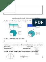 Atividade Avaliativa de Matemática 5º Ano III Unidade 2016