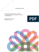 working paper economics education in the 21st century