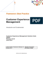 GB962 Customer Experience Management Introduction and Fundamentals R16.0.0