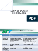 Teoria de Grupos y Comunicacion Resumen