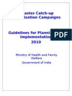 Measles SIA Guidelines India Ver 20100602