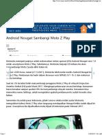 Android Nougat Sambangi Moto Z Play