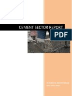 Cement Sector Report