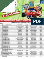 Ganhadores da Promoção 2016 - StyloFarma