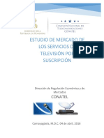 HONDURAS INFORMEdeEstudiodelServiciodeTelevisionporSuscripcion