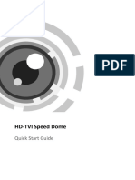 Quick Start Guide of HD-TVI Speed Dome