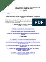 Ghid de Proiectare Si Exemple de Calcul Pentru Structuri Din Beton Armat Cu Armatura Rigida