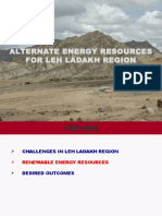 Alternate Energy Resources for Leh-ladakh Region