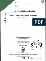 Review of Light Infantry Doctrine