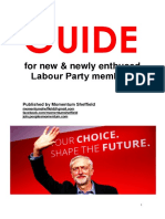 Momentum Sheffield Guide for New Labour Members