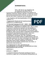 Aspectos Normativos Cambio de Zonificación de Lima