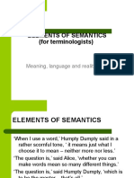 Semantics and Pragmatics Course 1