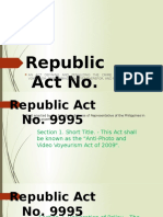 Republic Act No 9995 Pwerpiont