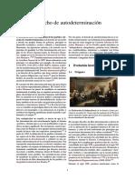 Derecho de Autodeterminación