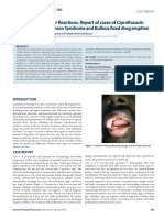 One Drug-Two Similar Reactions. Report of Cases of Ciprofloxacin
