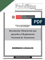 RM_172-2016-VIVIENDA Reglamento nacional de tasaciones