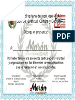 certificado deporte
